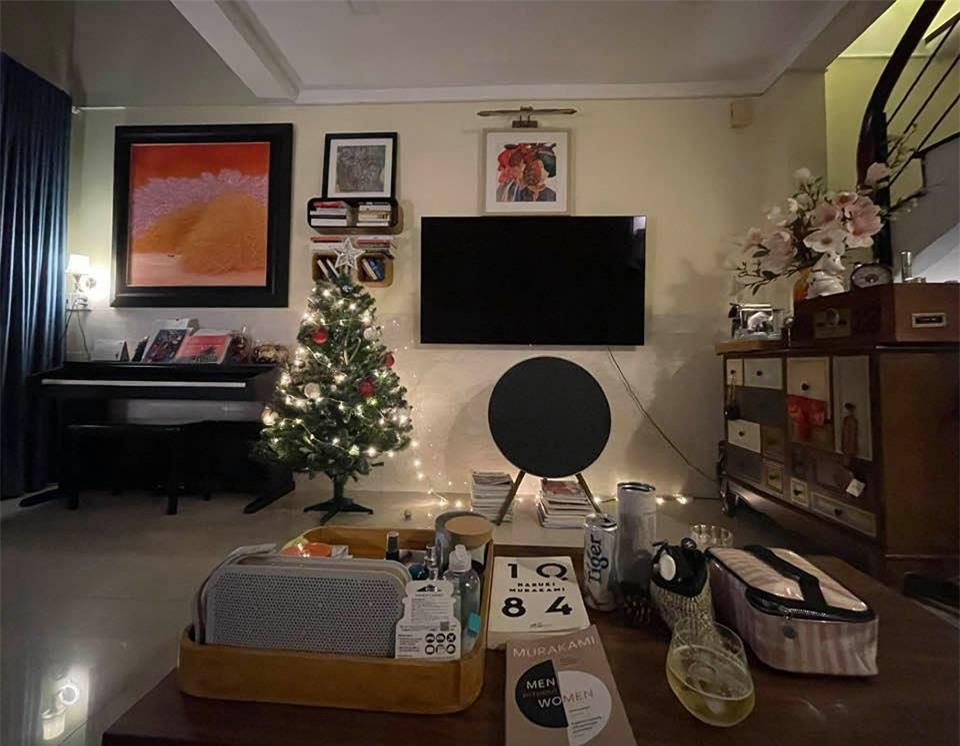 Uyên Linh khoe nhà tối giản toàn tranh với mèo bình yên vô cùng, ai thích