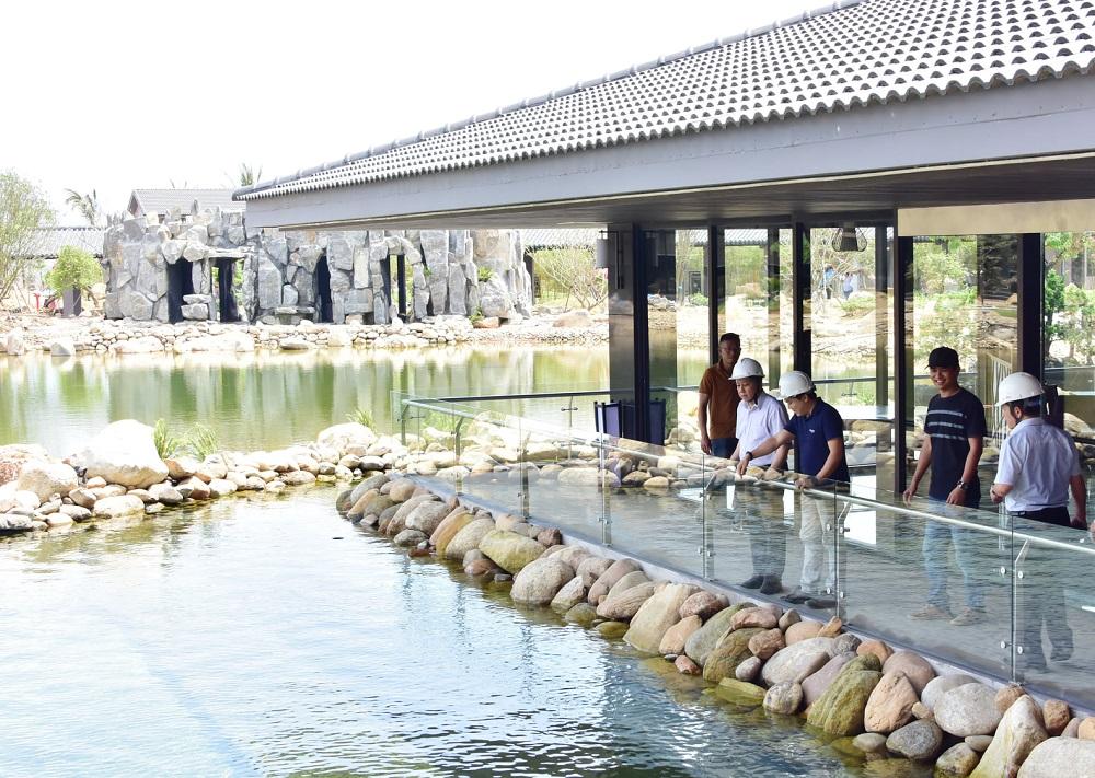 Chủ tịch UBND tỉnh Thừa Thiên Huế Phan Ngọc Thọ kiểm tra dự án khu nghỉ dưỡng Kawara My An Onsen Resort.