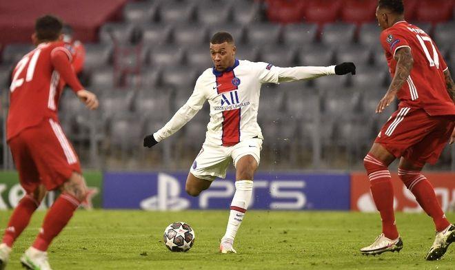 Mbappe lập cú đúp trong trận lượt đi Champions League