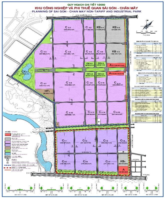 Quy hoạch chi tiết Khu Công nghiệp và Khu Phi thuế quan Sài Gòn – Chân Mây.