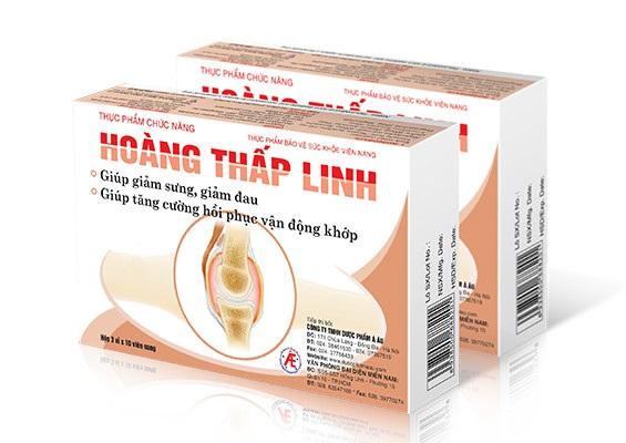 Thực phẩm bảo vệ sức khỏe Hoàng Thấp Linh hỗ trợ điều trị viêm khớp dạng thấp hiệu quả.