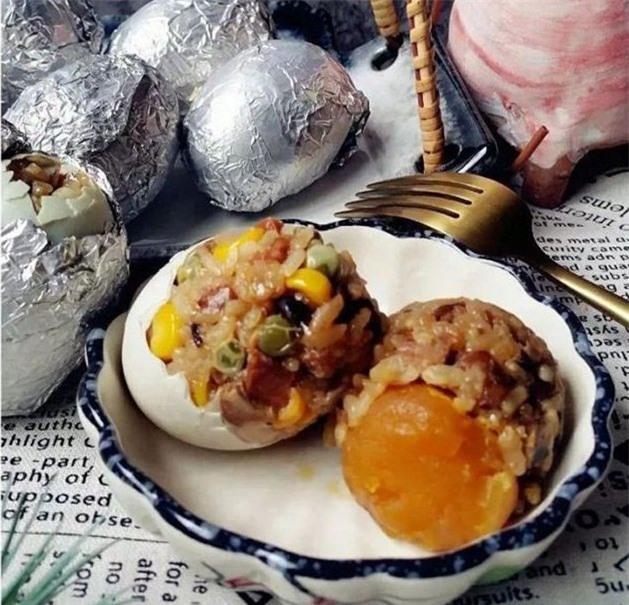 Trứng gà ngũ phúc thơm ngon