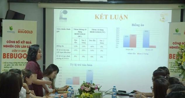 GS.TS Lê Thị Hợp công bố kết quả nghiên cứu lâm sàng. GS.TS Lê Thị Hợp công bố kết quả nghiên cứu lâm sàng.