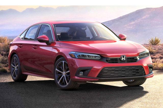 Civic 2022 với thiết kế giống bản nguyên mẫu. Ảnh: Honda