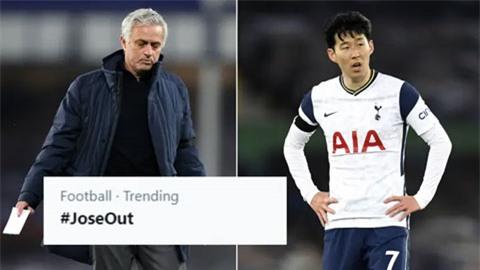 Làn sóng đòi sa thải Mourinho dâng cao sau trận Everton vs Tottenham