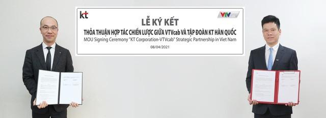VTVCab và KT Corp ký thỏa thuận hợp tác chiến lược qua hình thức trực tuyến. VTVCab và KT Corp ký thỏa thuận hợp tác chiến lược qua hình thức trực tuyến.