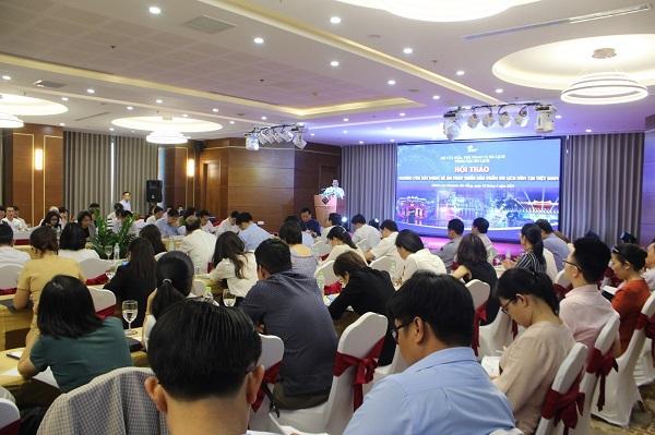 Tại Hội thảo Nghiên cứu xây dựng đề án phát triển sản phẩm du lịch đêm tại Việt Nam diễn ra tại Đà Nẵng vào ngày 16/4/2021. Nguồn ảnh: Tổng cục Du lịch Tại Hội thảo Nghiên cứu xây dựng đề án phát triển sản phẩm du lịch đêm tại Việt Nam diễn ra tại Đà Nẵng vào ngày 16/4/2021. Nguồn ảnh: Tổng cục Du lịch
