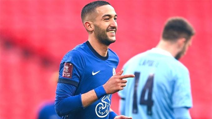Ziyech có bàn thắng quan trọng giúp Chelsea vào chung kết FA Cup