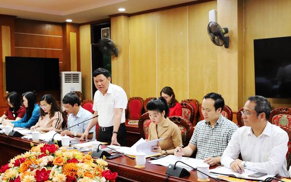 Phó Chủ tịch UBND tỉnh Thanh Hóa Nguyễn Văn Thi phát biểu kết luận tại buổi làm việc.