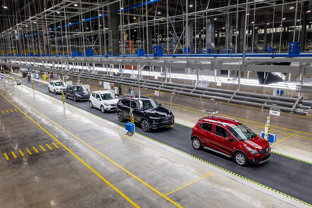 Tổ hợp nhà máy sản xuất ô tô, xe máy điện VinFast ở Hải Phòng.