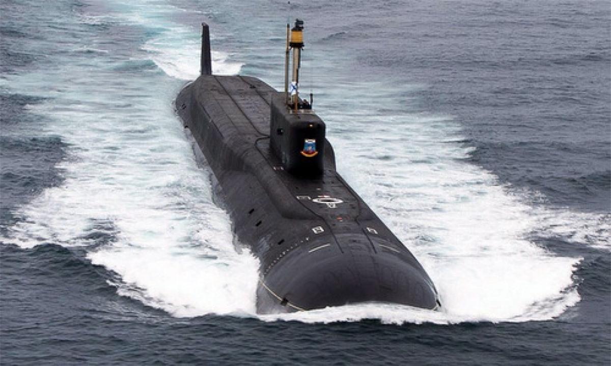Tàu ngầm hạt nhân lớp Borei của Nga. Ảnh: TASS.