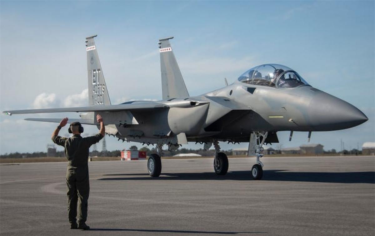 F-15EX tới căn cứ Không quân Eglin ngày 11/3/2021. Ảnh: Không quân Mỹ