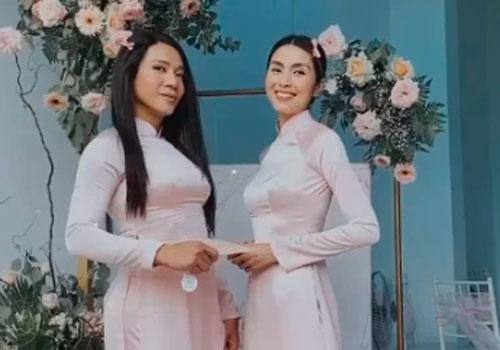 """Tăng Thanh Hà diện áo dài truyền thống đi cưới, hình ảnh gợi nhớ đến thời """"Bỗng dưng muốn khóc"""""""