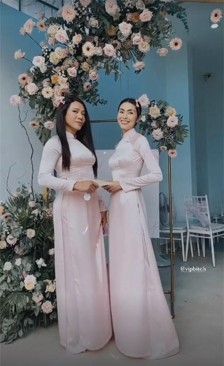 Tăng Thanh Hà diện áo dài truyền thống đi cưới, không thấy khí chất hào môn nhưng lại gợi liên tưởng đến hình ảnh thời