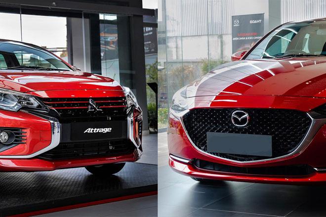 Mua xe sedan dưới 500 triệu đồng, chọn Mitsubishi Attrage Premium hay Mazda2 1.5L?