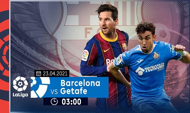 Trong 7 trận đối đầu gần nhất giữa Barca và Getafe, Barca thắng 5 trận, hoà 1 trận và thua 1 trận
