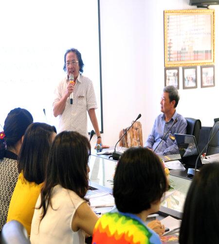 PGS-TS Mai Văn Hưng - Viện trưởng Viện PSD phát biểu tại buổi tập huấn