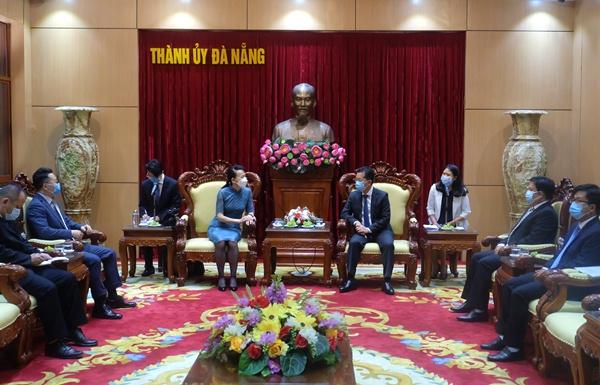 Bí thư Thành ủy Nguyễn Văn Quảng tiếp bà Đổng Bích Du - Tân Tổng Lãnh sự Trung Quốc tại thành phố Đà Nẵng