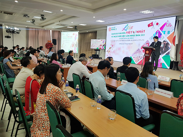 tại lễ khai mạc Lễ hội giao lưu văn hóa Việt - Nhật và Ngày hội việc làm Nhật Bản 2021 do ĐH Đông Á tổ chức ngày 24/4
