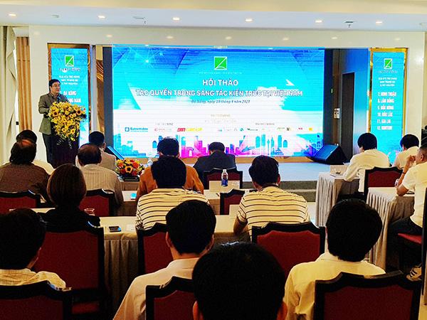 """Hội thảo """"Tác quyền trong sáng tác kiến trúc tại Việt Nam"""" vừa được Hội Kiến trúc sư (KTS) TP Đà Nẵng phối hợp với Câu lạc bộ KTS trẻ Việt Nam tổ chức tại Đà Nẵng"""