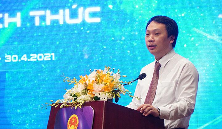 Thứ trưởng Bộ Thông tin và Truyền thông Nguyễn Huy Dũng phát biểu tại lễ khai mạc.