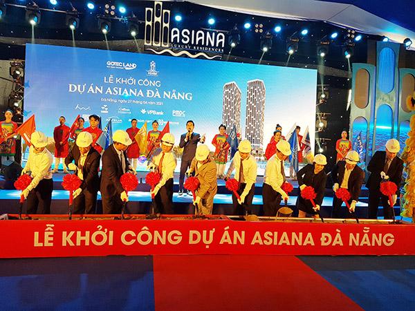 Sau gần 3 năm chuẩn bị với 2 lần thay đổi đơn vị tư vấn thiết kế, dự án Asiana Đà Nẵng đã chính thức được khởi công ngày 27/4