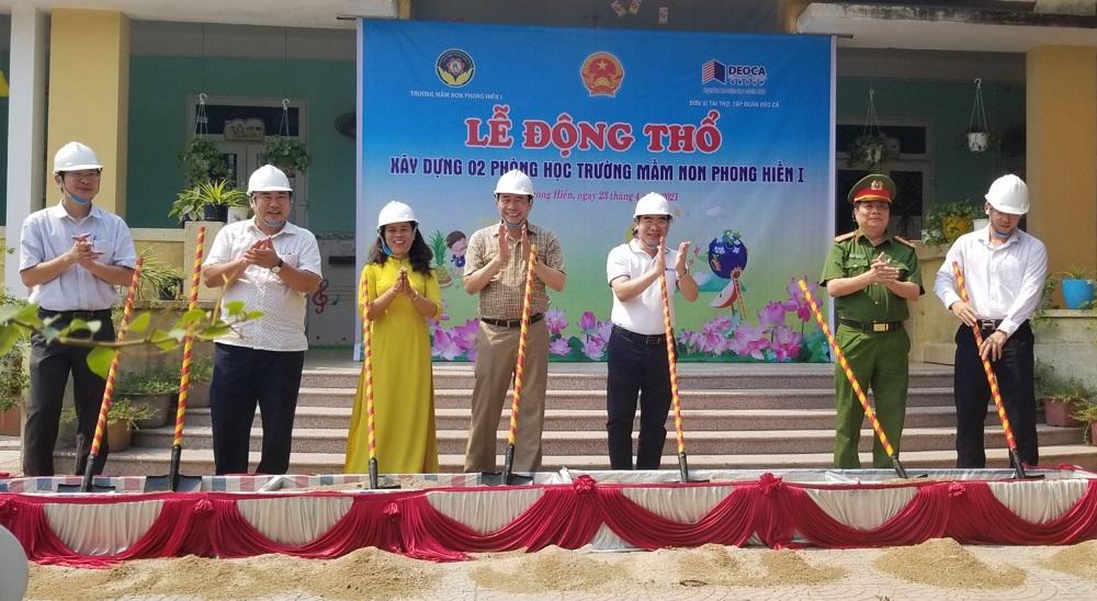 Lễ động thổ xây dựng phòng học cho Trường Mầm non Phong Hiền I.