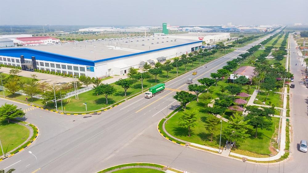 Một góc Khu công nghiệp VSIP II do Becamex IDC và Sembcorp đầu tư xây dựng tại Bình Dương.