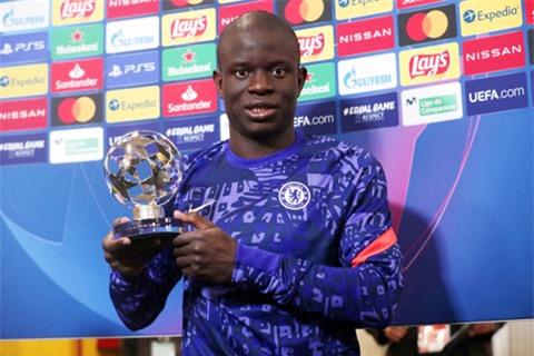 Kante được bầu là cầu thủ xuất sắc nhất trận Real vs Chelsea