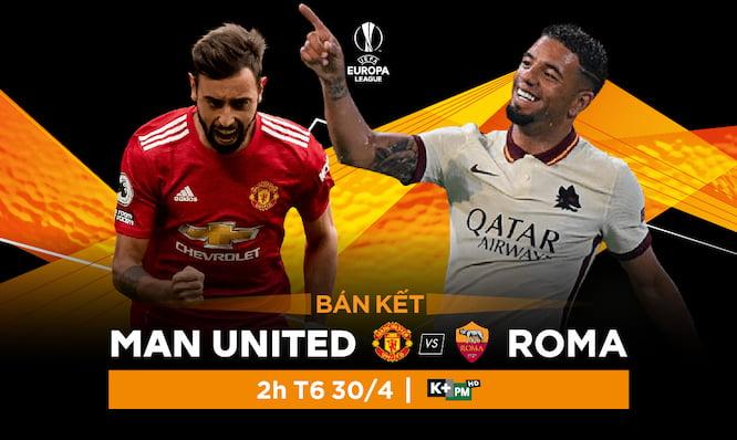 MU từng chiến thắng Roma 4 trận, hoà 1 trận và thua 1 trận