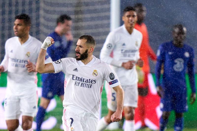 Benzema giúp Real thoát thua trước Chelsea.
