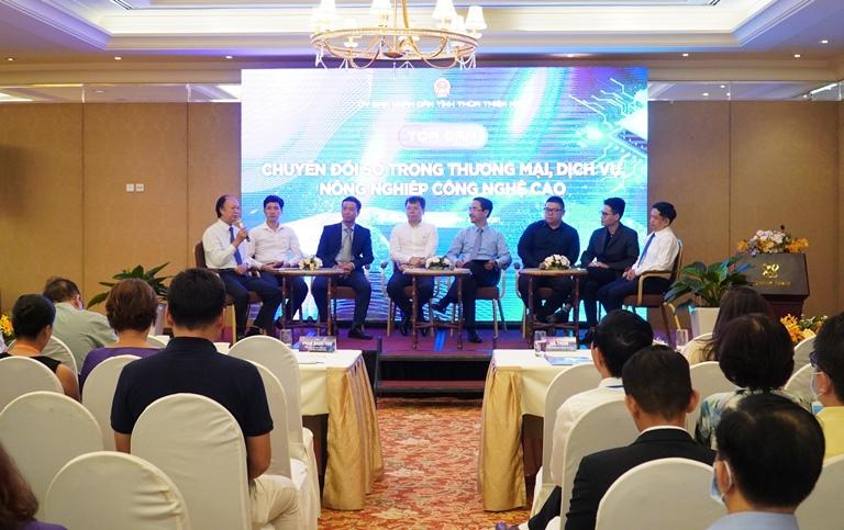 Tọa đàm chia sẻ kinh nghiệm về chuyển đổi số trong thương mại, dịch vụ, nông nghiệp công nghệ cao.