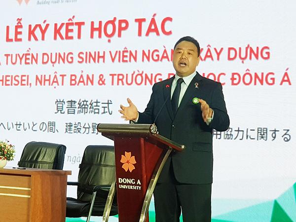 Ông Nishihara Kantou, Chủ tịch Công ty Tư vấn và Xây dựng HEISEI nêu 4 tố chất mà sinh viên Việt Nam cần có để được tuyển dụng sang Nhật làm việc, thực tập nghề nghiệp