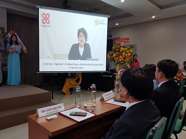 Ông ông Suganuma Kurato, Giám đốc Suganuma Group vẫn bày tỏ vui mừng tham gia Ngày hội việc làm Nhật bản 2021 của ĐH Đông Ásự kiện này dù chỉ qua màn hình trực tuyến.