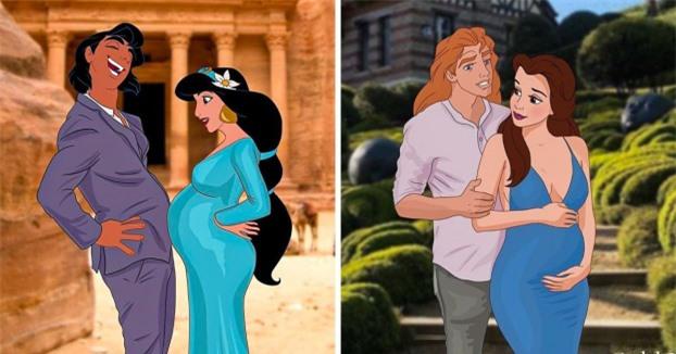 Điều gì sẽ xảy ra nếu các nàng công chúa Disney có bầu? 0