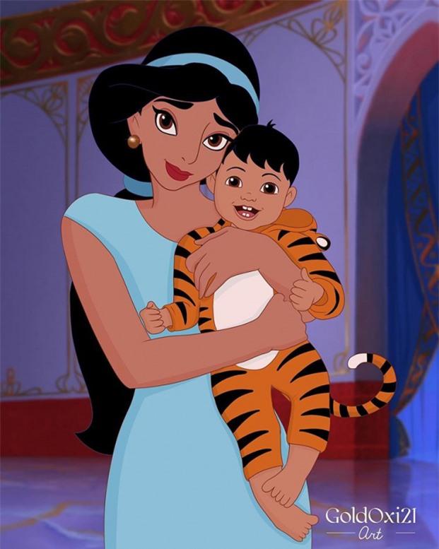 Jasmine cùng con trai