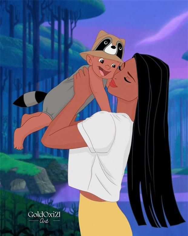 Pocahontas và con