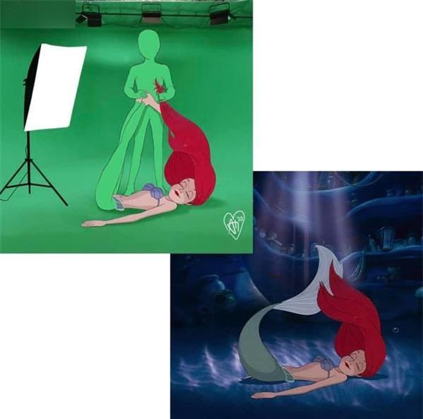 Để đuôi cá đung đưa sinh động thì không thể thiếu những tấm phông nền xanh (Ảnh: IG @andhikamuksin)
