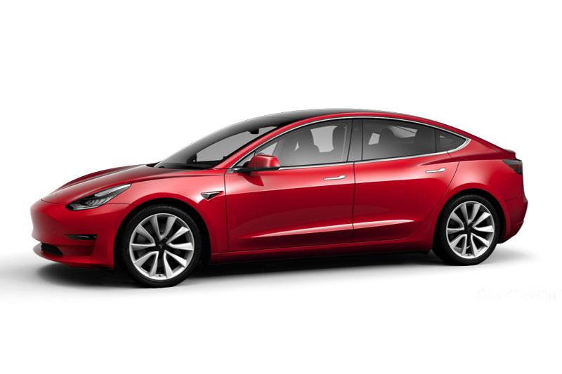 =6. Tesla Model 3 Long Range (thời gian tăng tốc từ 0-96 km/h: 4,4 giây, giá khởi điểm: 46.990 USD).