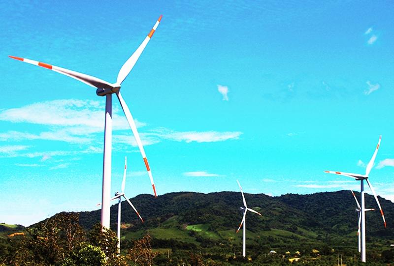 Những cánh đồng điện gió phía Tây Quảng Trị