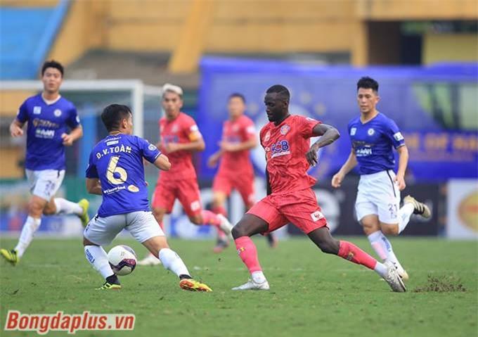 Hà Nội FC thắng Sài Gòn FC ở vòng 12 V.League 2021 - Ảnh: Minh Tuấn
