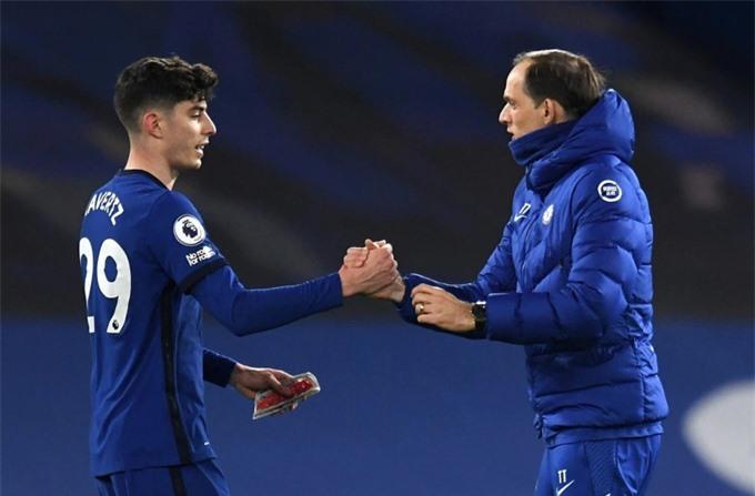 Tuchel cần thêm thời gian để biến Havertz thực sự là người dẫn dắt xuất sắc cho hàng công của Chelsea