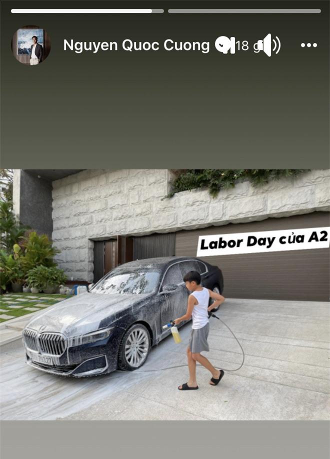 Ngậm thìa vàng nhưng Subeo không lười biếng chút nào, ngày lễ vẫn tất bật giúp Cường Đô La làm công việc liên quan đến siêu xe - Ảnh 2.