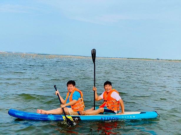Hoạt động chèo thuyền Sup tại Tam Giang