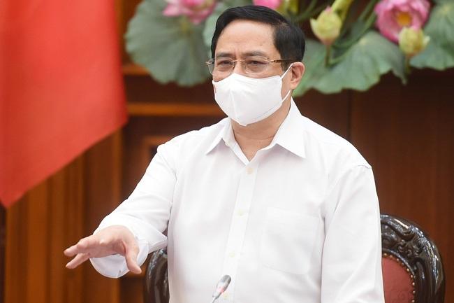 Thủ tướng Chính phủ Phạm Minh Chính phát biểu kết luận cuộc họp ngày 30/4. - Ảnh: VGP