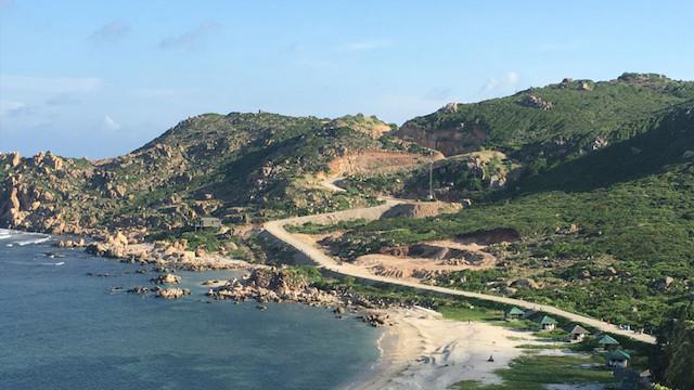 Khu vực dự án Anami Bình Ba mà tỉnh Khánh Hòa sẽ cưỡng chế để thu hồi dự án. (Ảnh: Anami)