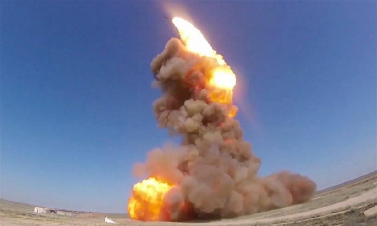 Một vụ phóng thử tên lửa của Nga. Ảnh: Bộ Quốc phòng Nga.