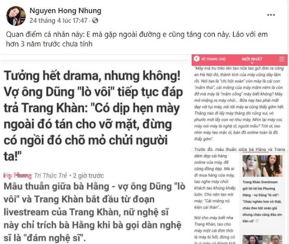 Vợ Xuân Bắc liên tục đăng đàn cà khịa Trang Trần, cựu siêu mẫu đáp trả cực gắt, còn tuyên bố sẵn sàng tay đôi - Ảnh 2.