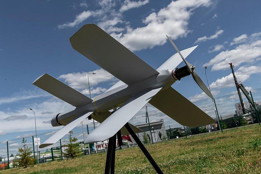 Drone Lancet-3 với đôi cánh hình chữ thập khác thường.