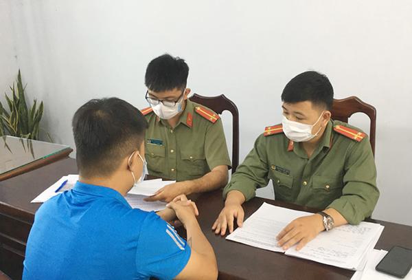 Công an huyện Hòa Vang (TP Đà nẵng) triệu tập ông N.V.T.. lên làm việc (Ảnh do Công an huyện Hòa Vang cung cấp)